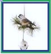 Bird on a bell door knob hanger
