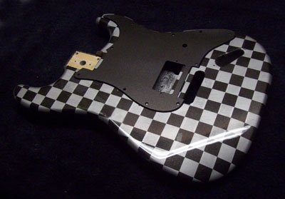 Checker Board Finish For your Guitar or Bass Body!