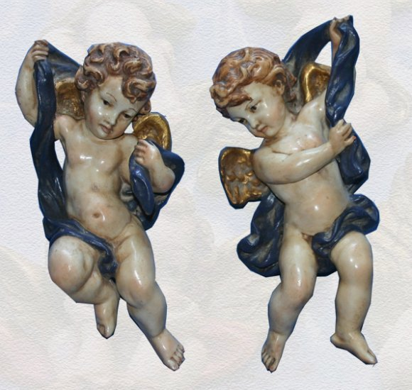 Wall Hanging cherub angels Antique Style