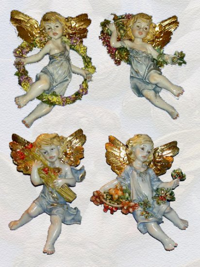 Set of 4 Angels of the Four Seasons