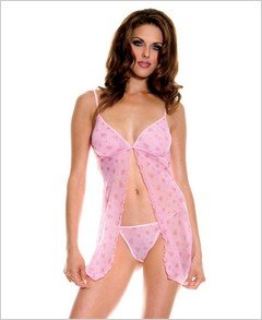 Floral Print Babydoll With G-String