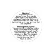 Warning Labels 1.25 Inch 100pc. roll