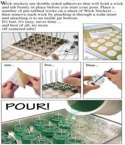 1000 Pack - Standard 20mm Wick Stickers