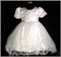 WHITE Holy Communion Style Flower Dress
