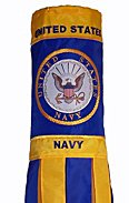 "U.S. Navy Military Windsock Flag 40"" Officially Licensed by the U.S. Navy"