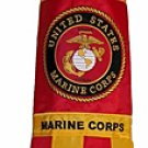 "U.S. Marine Corps Military Windsock Flag 40"" ~ Semper Fi ~Support Our Troops!"