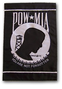 POW * MIA Military12� X 18� High Quality Embroidered Garden Banner Flag