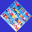 Nautical Signal Flags / Maritime Signal Flags - String of 40 Flags