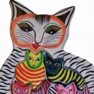 Hand Made Wooden Cat with Kittens Puzzle - So Beautiful, can be used as Wall Décor!