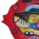 Hand Made Wooden Red Fish with Babies Puzzle - So Beautiful, can be used as Wall Décor!