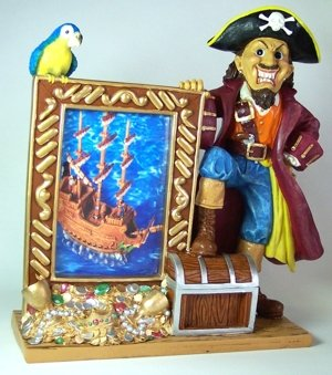 Collectable Pirate Picture Frame perfect for displaying a picture of your favorite little Pirate!
