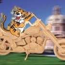 HARLEY MOTORCYCLE 3D Wooden PUZZLE - Challenging, Educational and Creative Woodcraft Model Puzzle