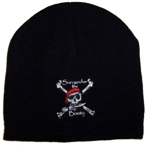Surrender The Booty! - Pirate Knit Cap by Flapin Flags