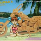 HARLEY HOG 3D Wooden MOTORCYCLE PUZZLE 110pc Challenging, Educational, Creative Woodcraft Model