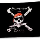 Surrender the Booty Pirate Flag 12x18 Double Sided