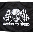 18x24 Sworn to Speed Pirate Flag! Made in the USA!