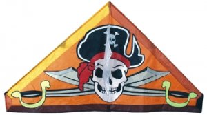 Single Line PIRATE DELTA KITE - LINE AND HANDLE INCLUDED!