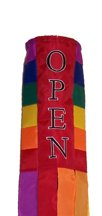 Commercial Retail Store - OPEN - Windsock Sign - Rainbow Design 40in