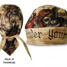 Surrender Your Booty - Skull and Crossbones Pirate/ Motorcycle Bandanna / Doo Rag