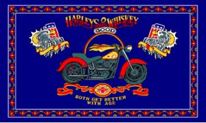 Harley's and Good Whiskey Biker Flag 3x5 Boat/Motorcycle
