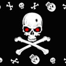 Red Eye Skulls Pirate Flag 3x5 Boat/Motorcycle