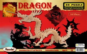 DRAGON 3D Wooden PUZZLE - Challenging, Educational and Creative Woodcraft Model Puzzle
