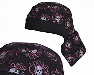 Head Wench - Pirate / Biker Chick Skull Bandana / Headwrap / Do-Rag