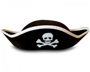 One Dozen (12) Childs Tricorner Felt Pirate Hats - Great for Parties - Pirate Kids! -