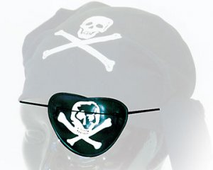 One Dozen (12) Child's See thru Pirate Eye Patch - Pirate Kids - Great for Parties