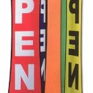 PKG of 2 -Store OPEN Spinning Sign 25x48- for Commercial - Retail Stores -  Pole Included!