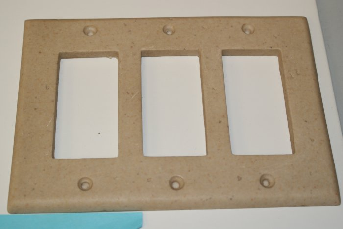 Decorative Wall Plate Switches : Decorative wall tile switch plate triple toggle