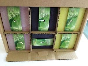 Bougies la Francaise - Cube scented aquatic scene 3x3 yellow,green,black