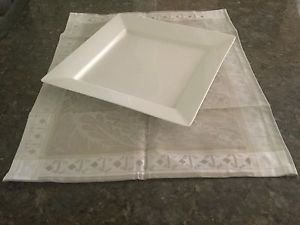 GARNIER THIEBAUT BEIGE GREY ISAPHIRE PLATINE 100%COTTON RECTANGULAR PLACEMAT NEW