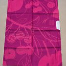 "FAUCHON TORCHON BURLAT100% COTTON 22""X30""-RECTANGULAR RED,PINK KITCHEN TOWEL TAG"