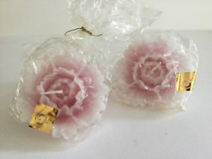 Bougies la Francaise - Pink flower shape individually wrap