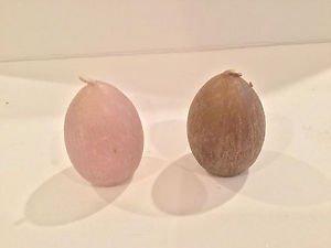 Bougies la Francaise Set egg shape candles assorted color brown/pink