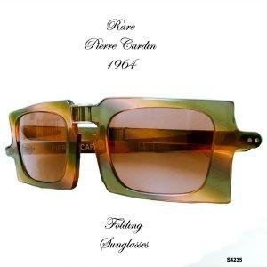 Vintage Pierre Cardin Folding Sunglasses RARE
