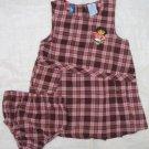 Dora check dress w panty