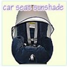 Car Seat Sunshade Attachment  by Protect-a-bub -  White with Navy Trim