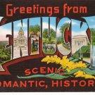 Kentucky Big Letter Linen c.1940 Postcard