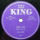 Lula Reed  Rock Love 78rpm on King