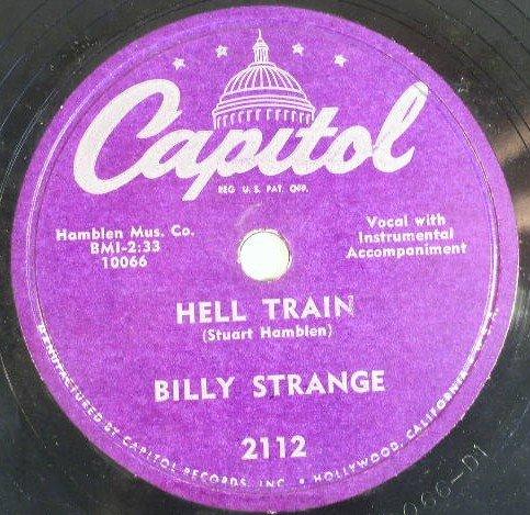Billy Strange Hell Train 78rpm