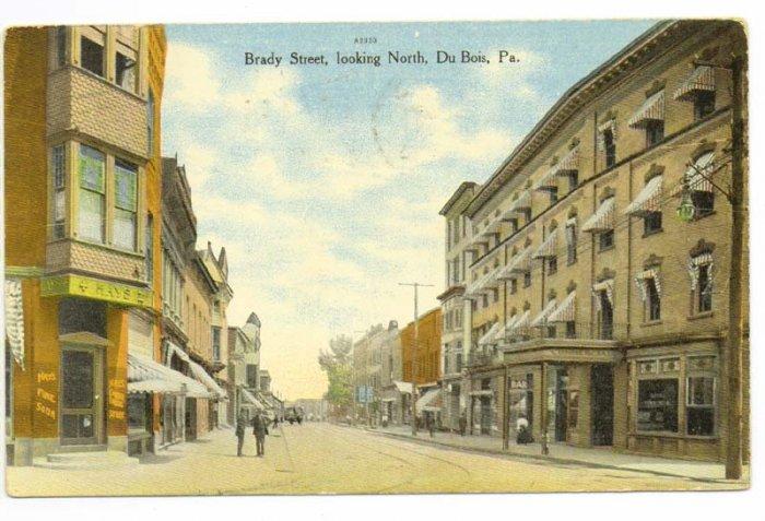 DuBois PA c. 1910 Postcard Brady Street Looking North