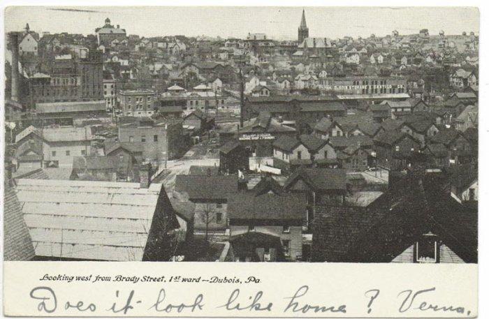 View of Dubois PA c. 1906 Postcard