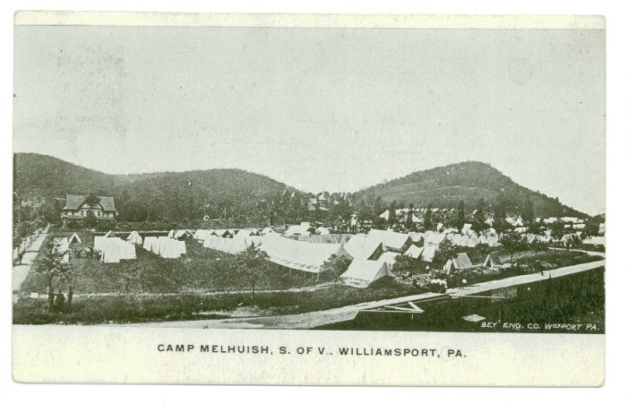 Camp Melhuish S. of V. Williamsport PA c.1908 Postcard