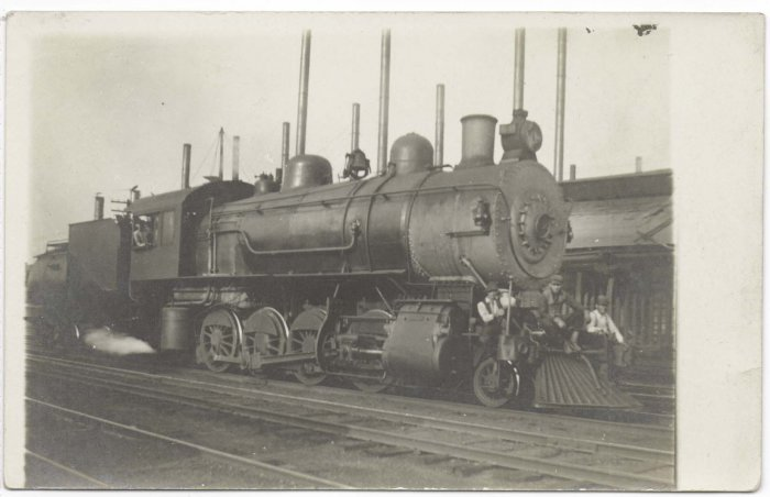 Steam Engine Locomotive circa 1910 RPPC