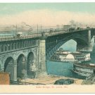 St Louis MO Eads Bridge Spread Eagle Paddlewheeler 1910