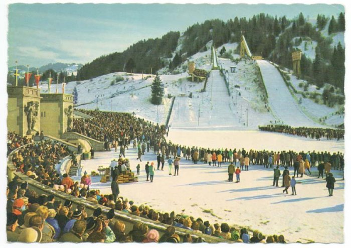 Olympic Skiing Stadium Garmisch Germany Postcard