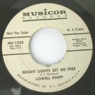 Lowell Knipp - Bright Lights Set Me Free / Happy Face 45rpm