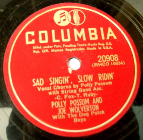 Polly Possum & Joe Wolverine - Don't Cry Baby - 78rpm